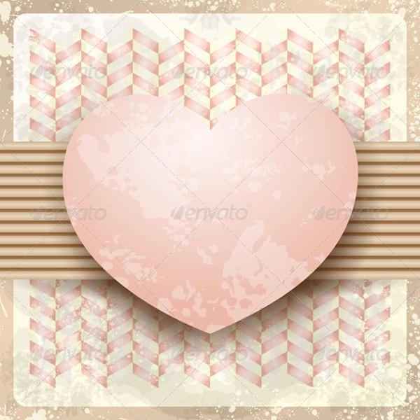 Herringbone Heart Background Texture