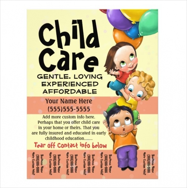 day care flyer
