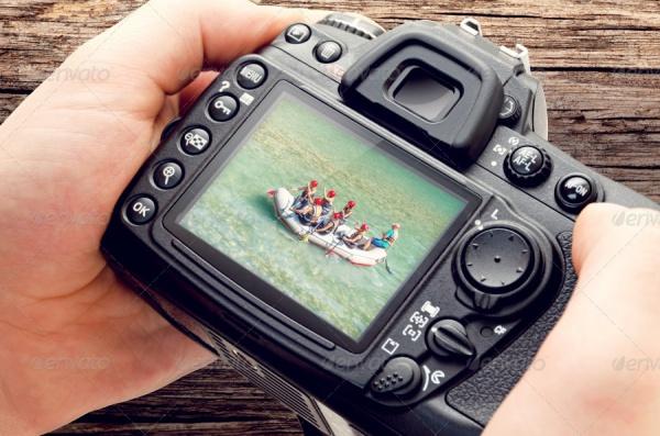 High Quality Isolated Camera Mockup
