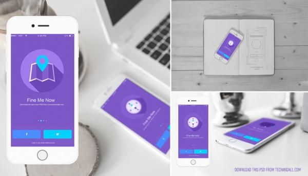 High Res App Showcase Mockup