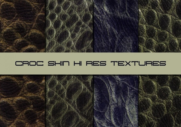 High Res Crocodile Skin Texture