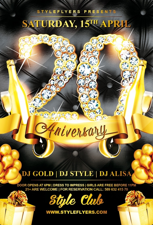 25 Anniversary Flyer Templates Psd Vector Eps Jpg Download