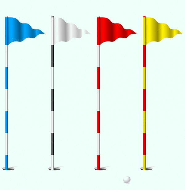 High Resolution Golf Flags Vector