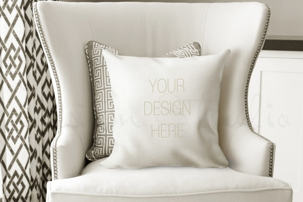 high resolution pillow mockup