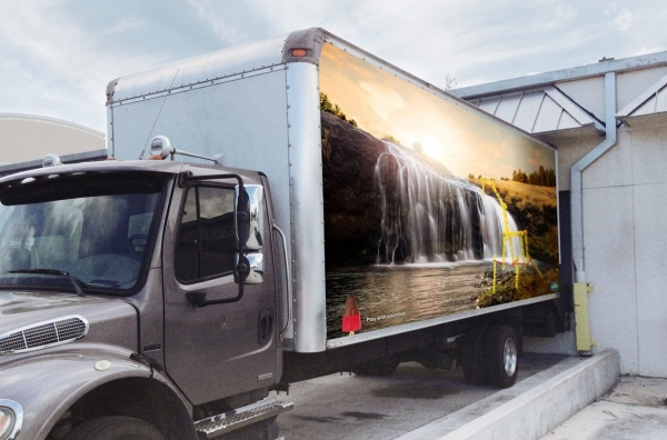 High Resolution Truck Advertising Mock-up
