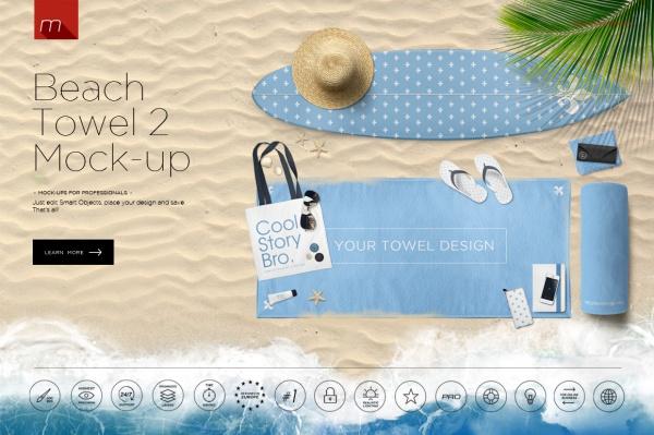 Highly Editable Beach Mockup