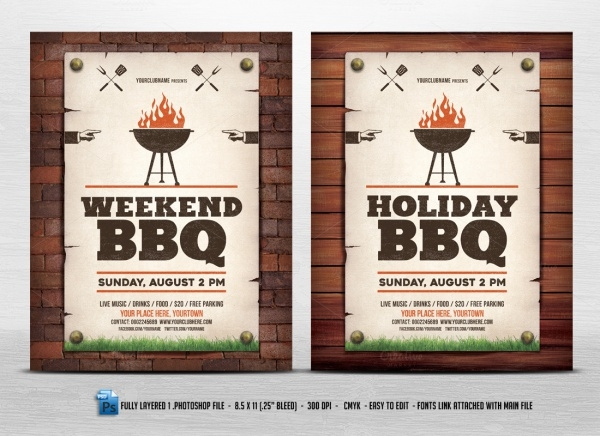 Holiday Weekend BBQ Flyer
