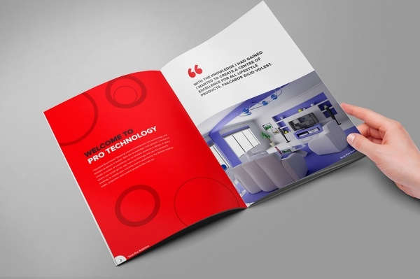 home technology brochure template