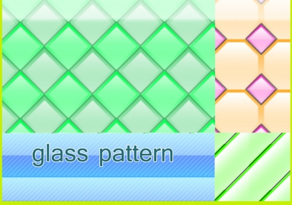 Horizontal Striped Glass Pattern