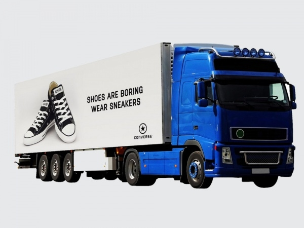 Huge Truck Advertising Mock-up
