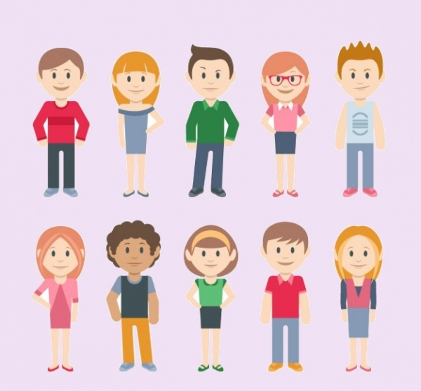 Human Casual Character Vectors