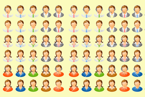 Human Icon Vector Collection