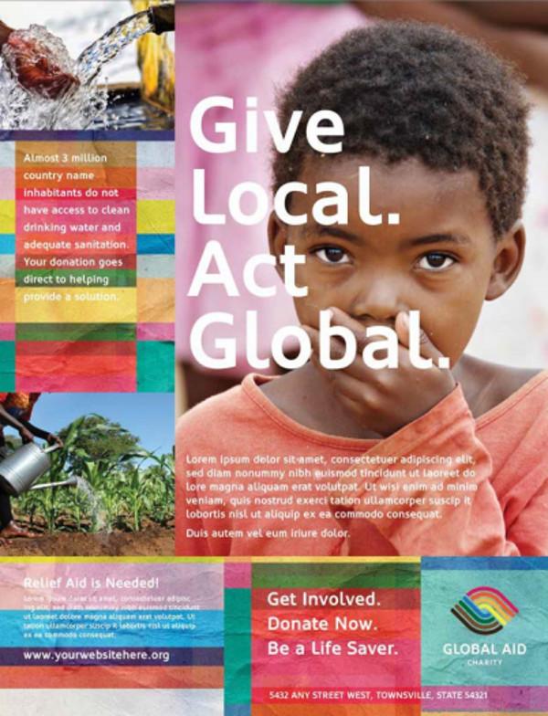 Humanitarian Aid Organization Advertising Flyer