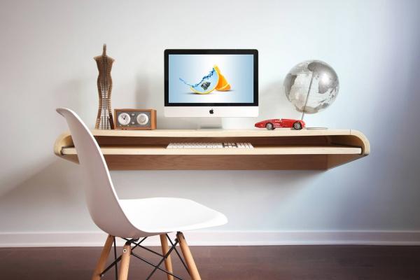 IMac Floating Desk Mockup