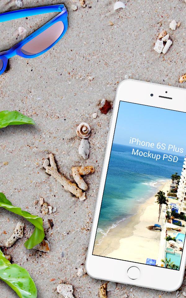 IPad Pro On The Beach Mockup