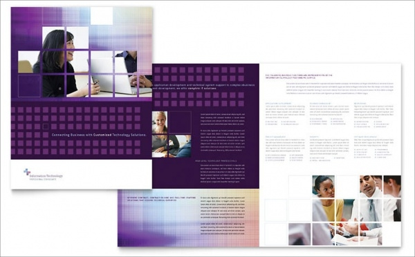 Information Technology Brochure Design
