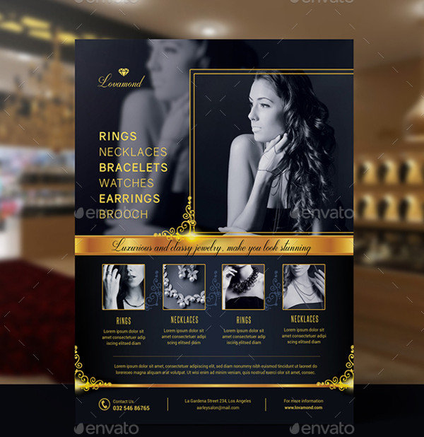 Jewelry Shop Grand Opening Flyer Template