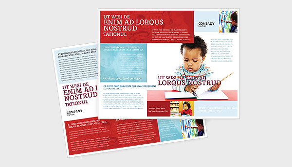 Kid Learning Brochure Template