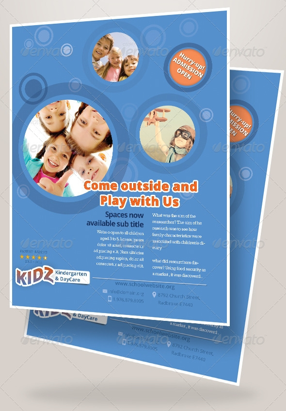 Free Daycare Flyer Templates  Template