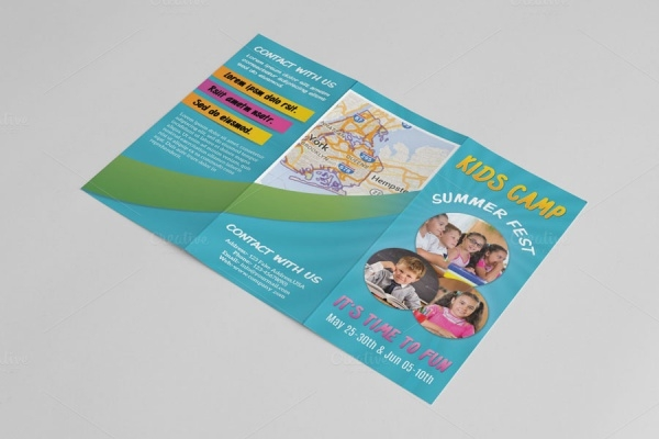 Kindergarten Photorealistic Brochure Template