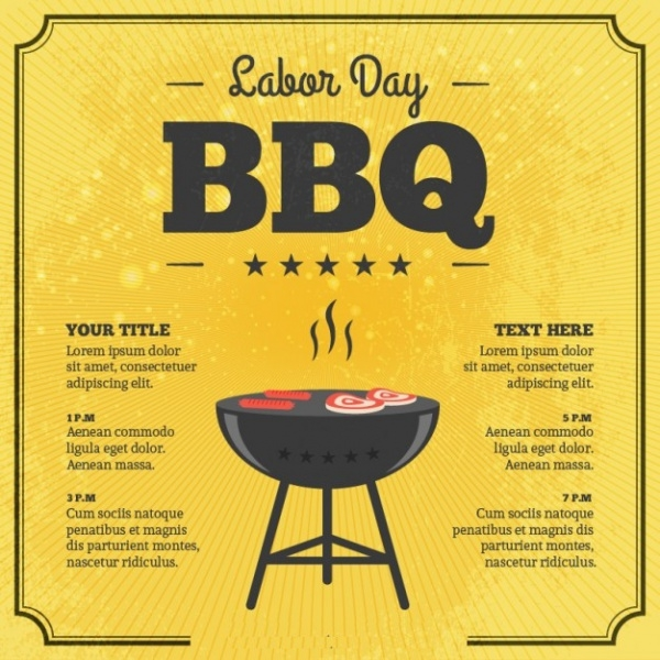 Labor Day BBQ Card Flyer