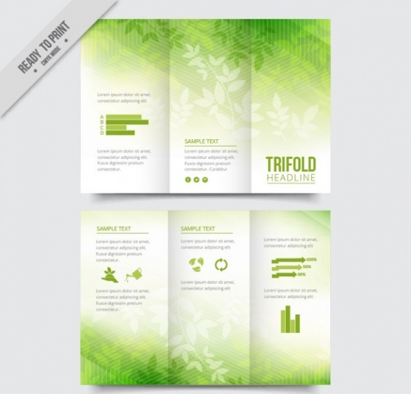 Leaves green trifold Brochure