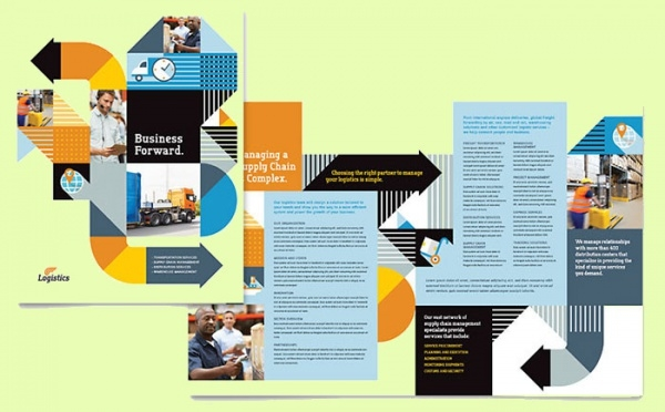 Logistics & Warehousing Bi-fold Brochure