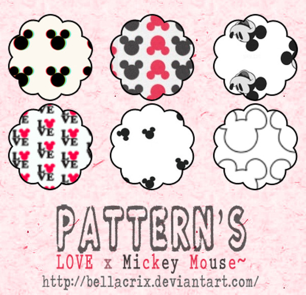 Love x Mickey Mouse Pattern's