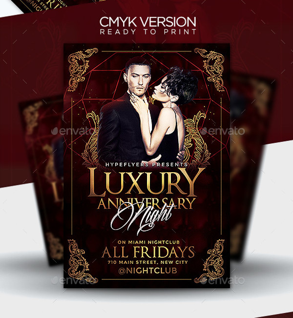 Luxury Anniversary Flyer Template