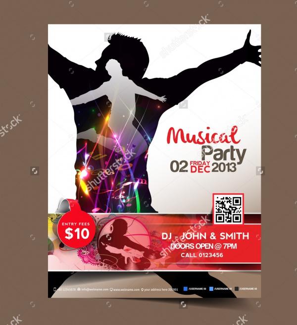 Magazine Cover Dj Music Flyer
