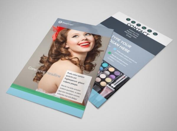 Makeup & Cosmetics Postcard Flyer