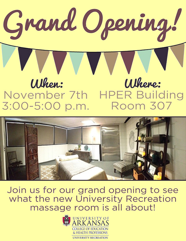Massage Grand Opening Flyer