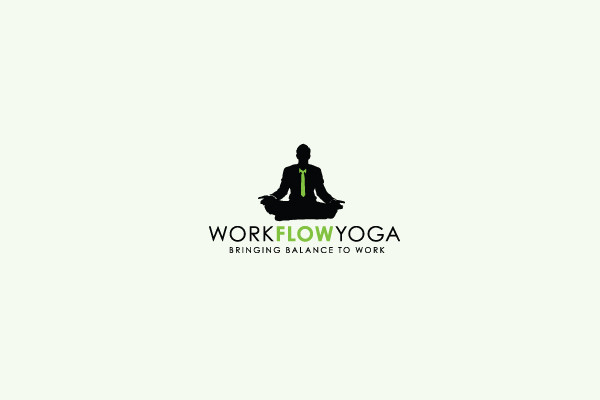 Meditation Green Yoga Logo