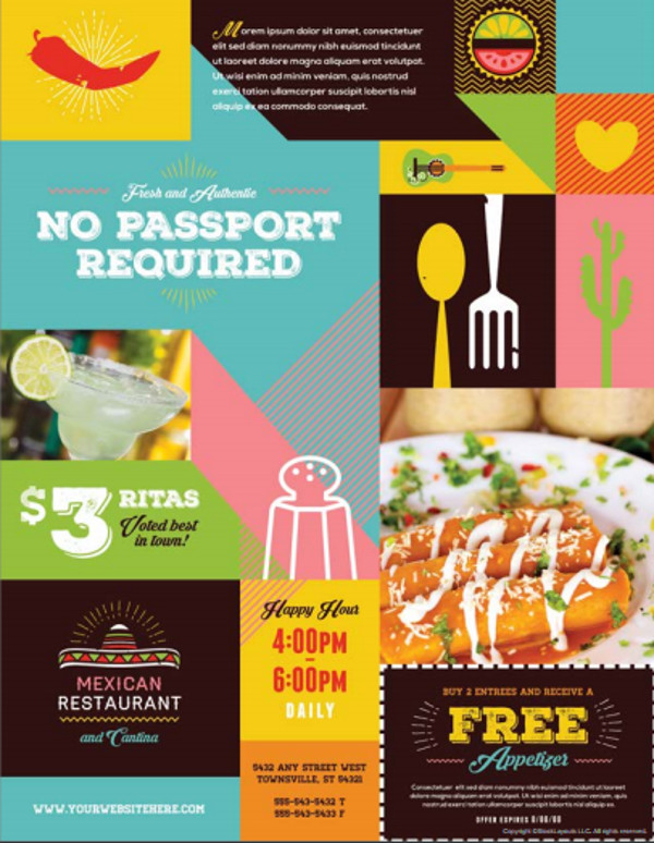 Food Flyer Templates  Psd Vector Eps Jpg Download  Freecreatives