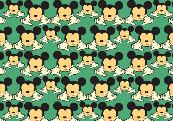 Mickey Shaka Pattern Vector