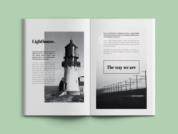 Minimal Photography catalogue Brochure