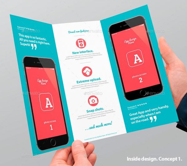 Mobile App Trifold Brochure