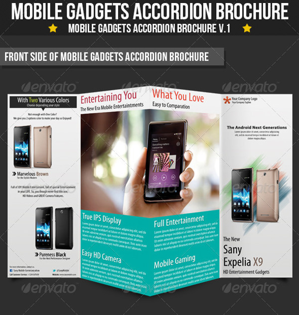 Mobile Gadgets Accordion Brochures