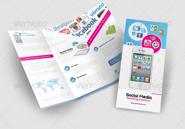 Mobile & Social Media Tri - fold Brochure