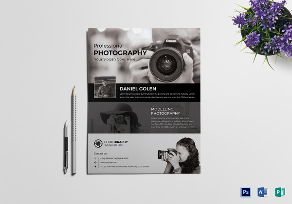 Modelling Photography Flyer Template