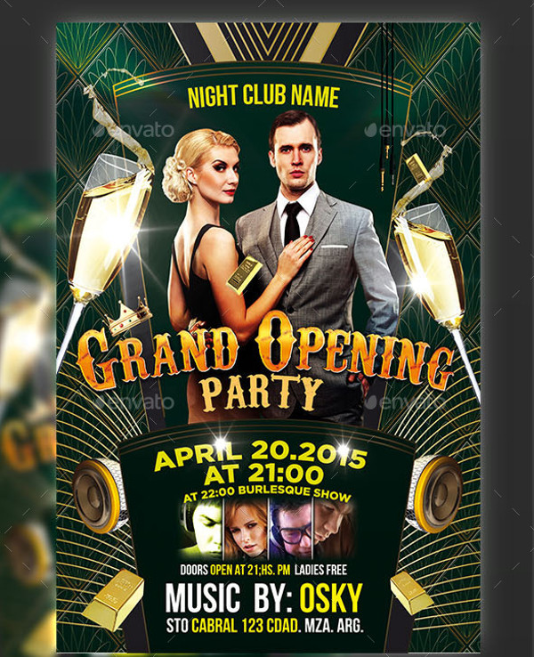 Models Grand Opening Anniversary Flyer