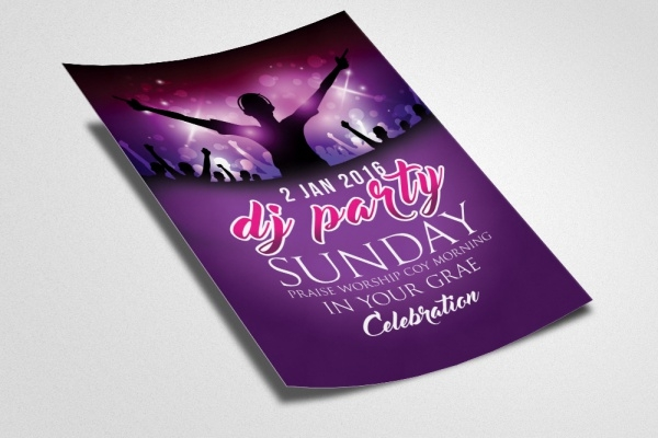 Modern Dj Party Flyer