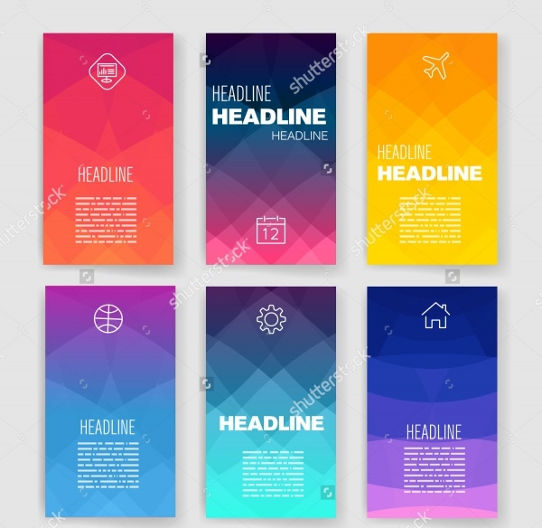 Modern Flat Web Technology Brochures