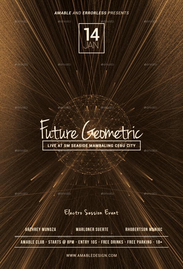 Modern Geometric Flyer
