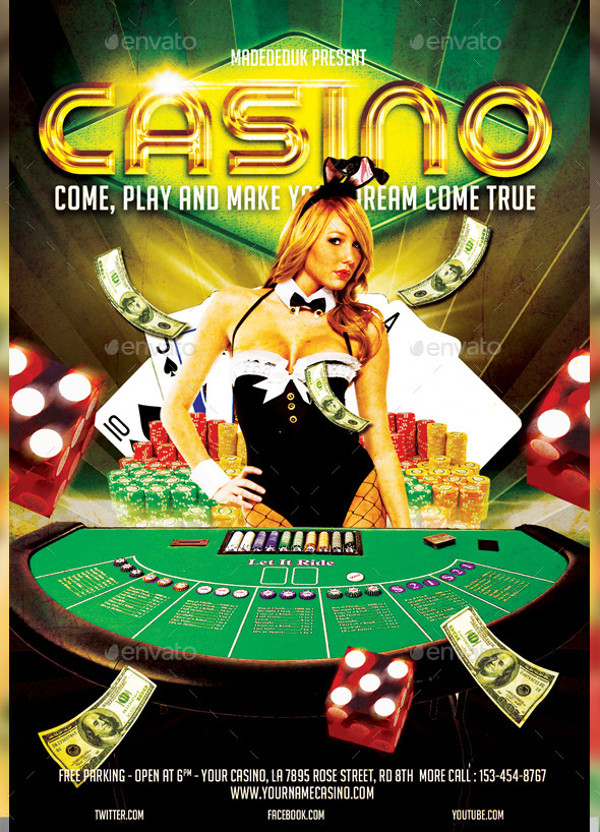 modern party casino flyer