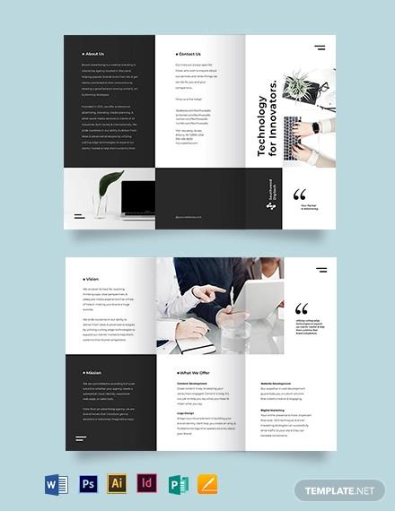 modern tri fold brochure template