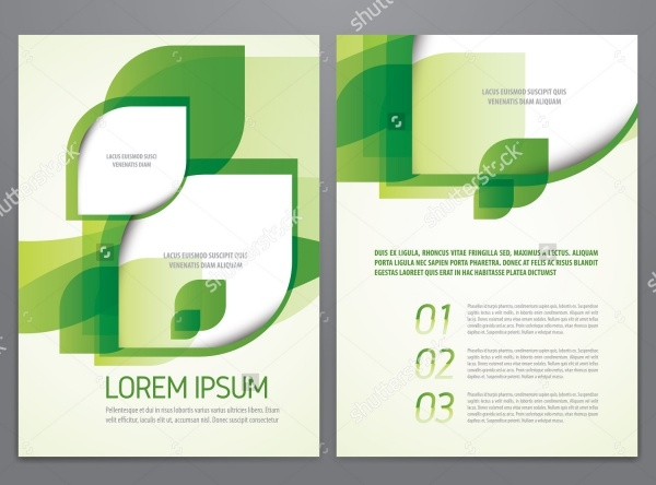 Modern green leaf environment Brochure