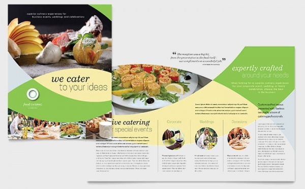 Mouth Watering Food Catering Brochure