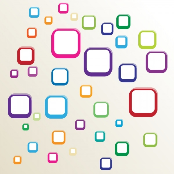Multicolor Rounded Square Vector