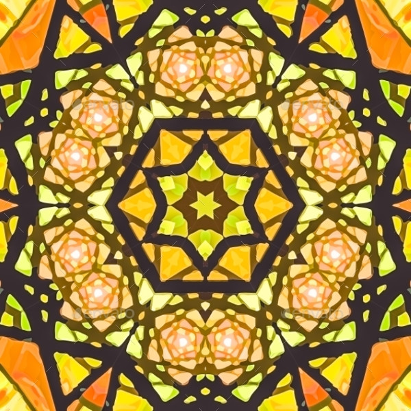 Multicolored Symmetrical Glass Pattern